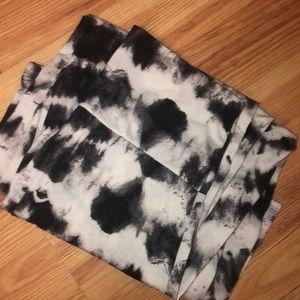 Black and White Tye-Dye Maxi Skirt